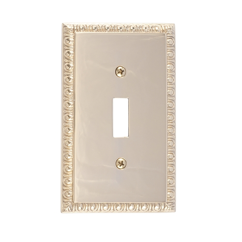 Brass Accents M05-S7500-605 Egg & Dart Single Switch Plate