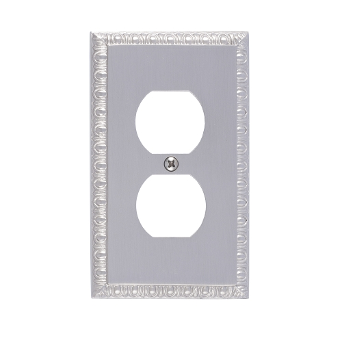 Brass Accents M05-S7510-619 Egg & Dart Single Outlet Plate