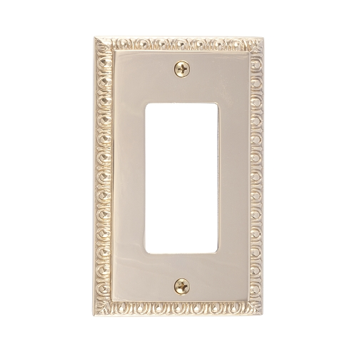 Brass Accents M05-S7520-605 Egg & Dart Single GFCI Switch Plate