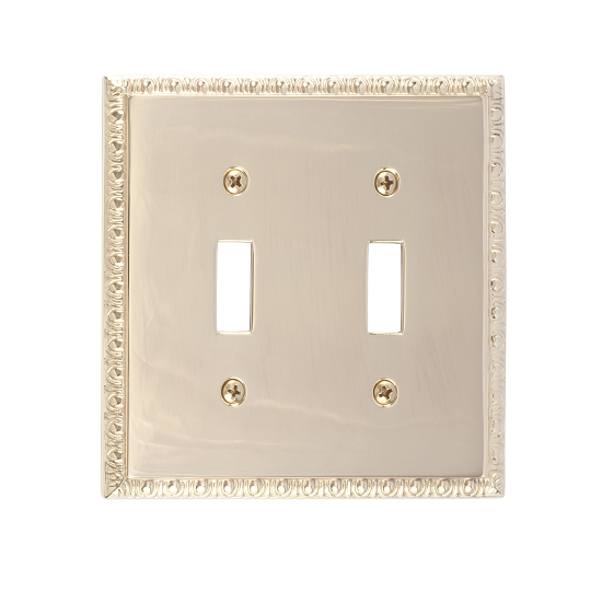 Brass Accents M05-S7530-605 Egg & Dart Double Switch Plate