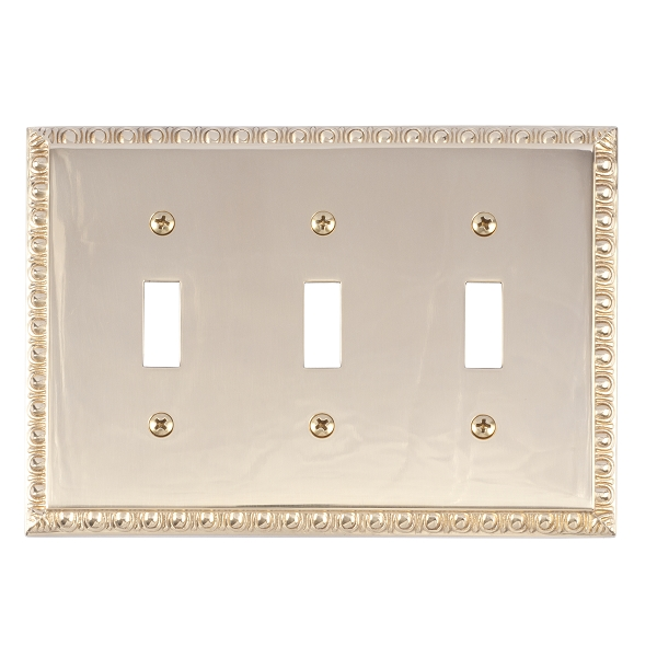 Brass Accents M05-S7550-605 Egg & Dart Triple Switch Plate