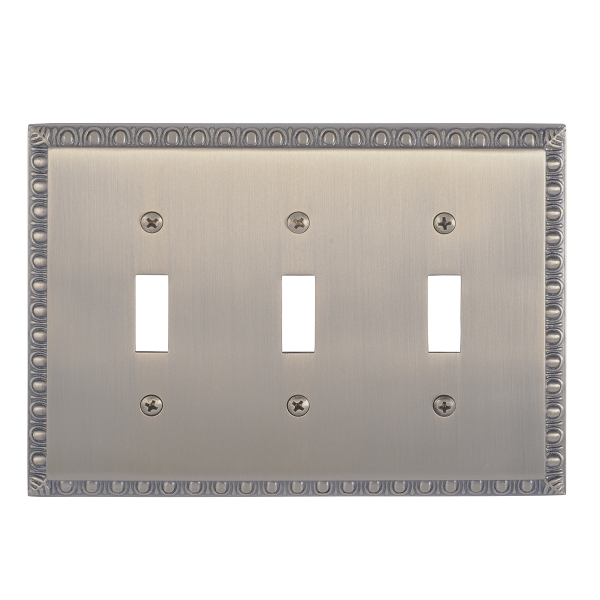 Brass Accents M05-S7550-609 Egg & Dart Triple Switch Plate