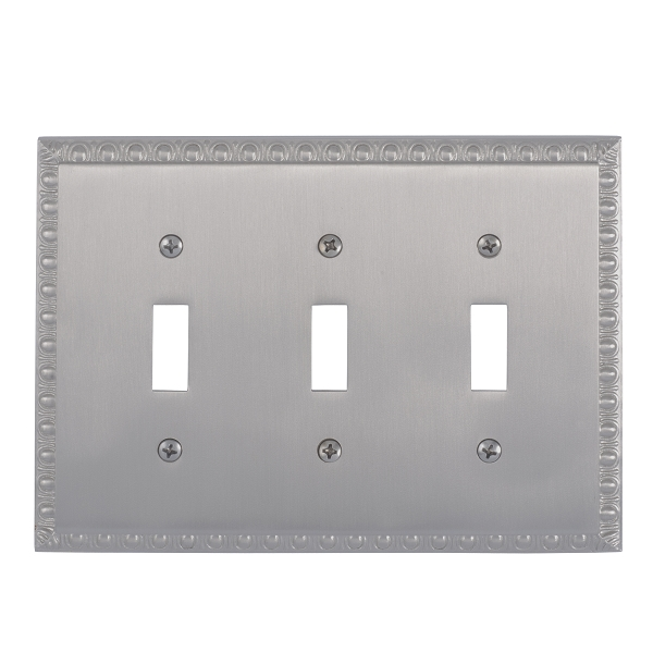 Brass Accents M05-S7550-619 Egg & Dart Triple Switch Plate
