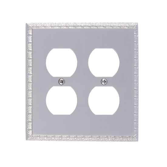 Brass Accents M05-S7560-619 Egg & Dart Double Outlet Plate