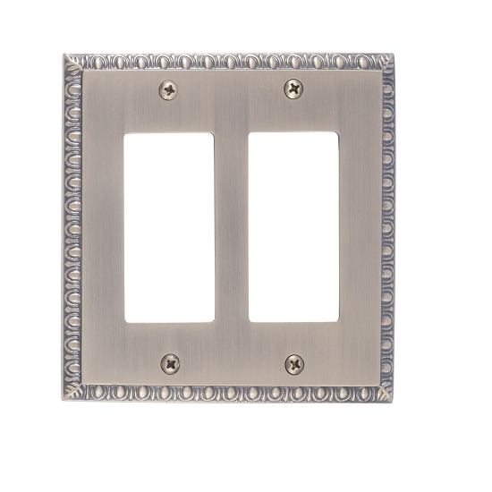 Brass Accents M05-S7570-609 Egg & Dart Double GFCI Switch Plate
