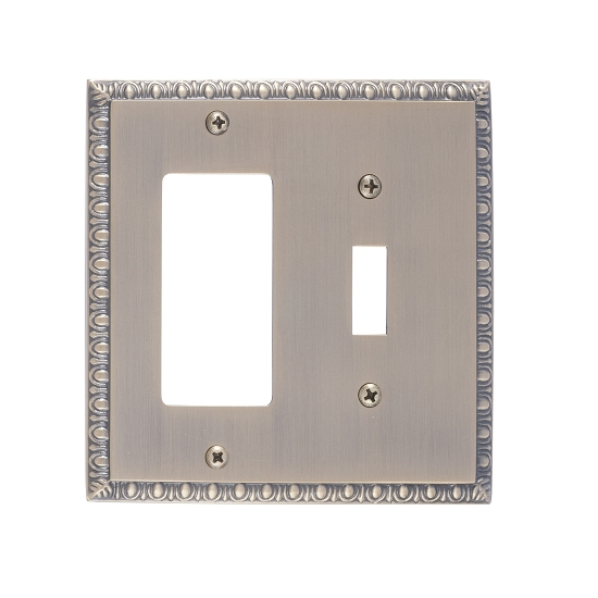 Brass Accents M05-S7571-609 Egg & Dart Double-Single Switch and Single GFCI