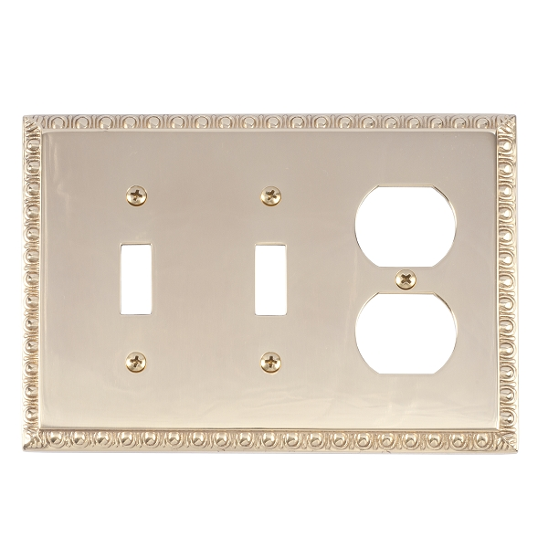 Brass Accents M05-S7580-605 Egg & Dart Triple-Double Switch and Single Outlet
