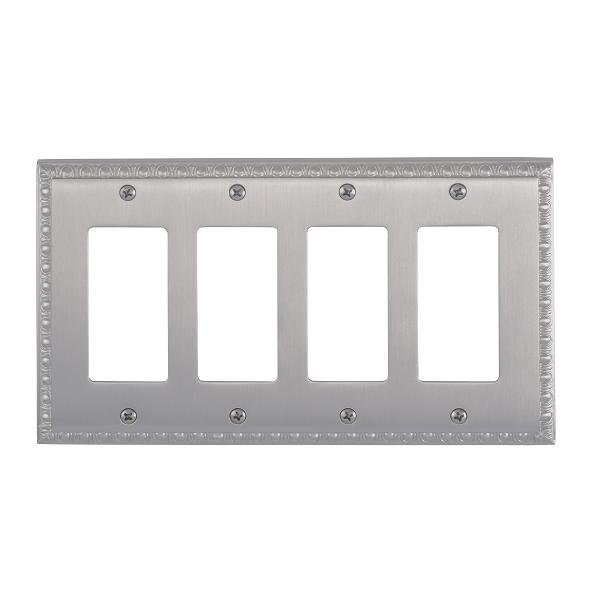 Brass Accents M05-S7592-619 Egg & Dart Quad GFCI Switch Plate