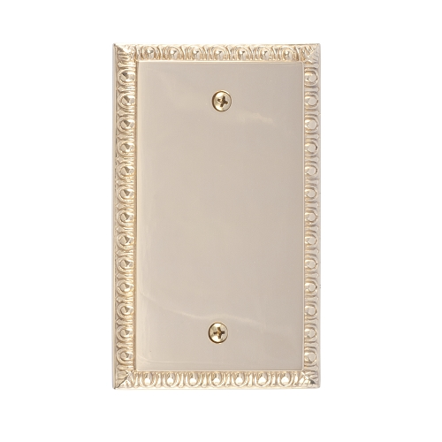 Brass Accents M05-S75X0-605 Egg & Dart Single Blank Plate