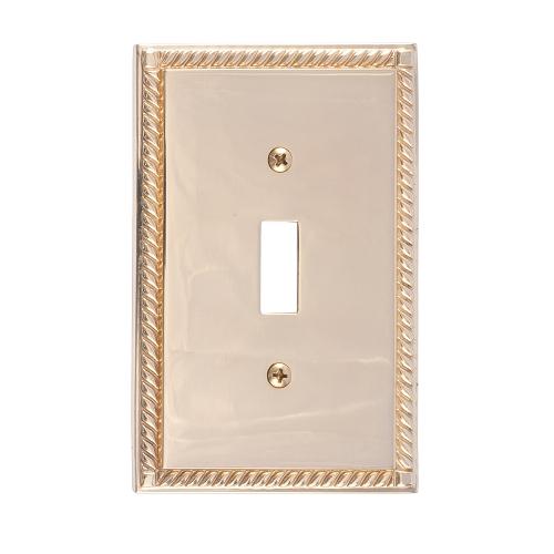 Brass Accents M06-S8500-605 Georgian Single Switch Plate