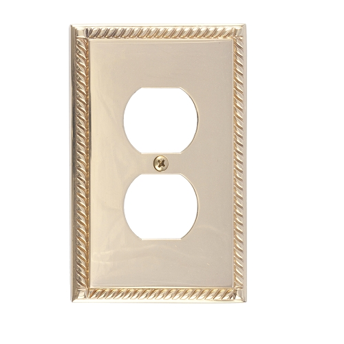 Brass Accents M06-S8510-605 Georgian Single Outlet Plate