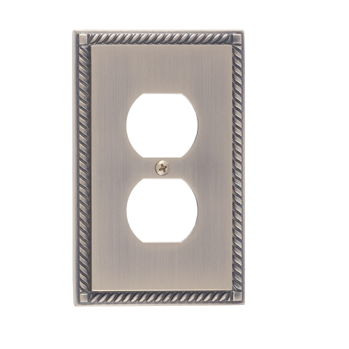 Brass Accents M06-S8510-609 Georgian Single Outlet Plate