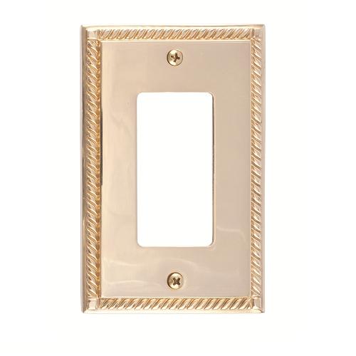 Brass Accents M06-S8520-605 Georgian Single GFCI Switch Plate