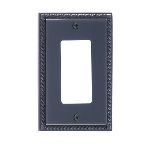 Brass Accents M06-S8520-613VB Georgian Single GFCI Switch Plate
