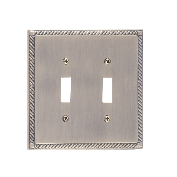 Brass Accents M06-S8530-609 Georgian Double Switch Plate