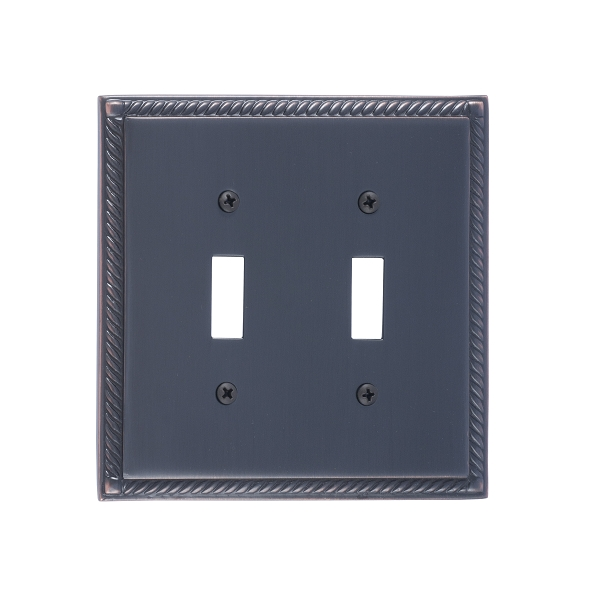 Brass Accents M06-S8530-613VB Georgian Double Switch Plate