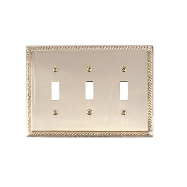 Brass Accents M06-S8550-605 Georgian Triple Switch Plate