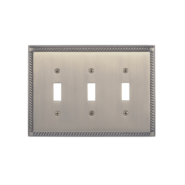 Brass Accents M06-S8550-609 Georgian Triple Switch Plate