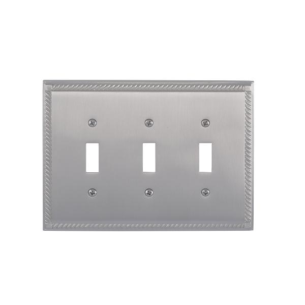 Brass Accents M06-S8550-619 Georgian Triple Switch Plate