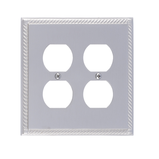 Brass Accents M06-S8560-619 Georgian Double Outlet Plate