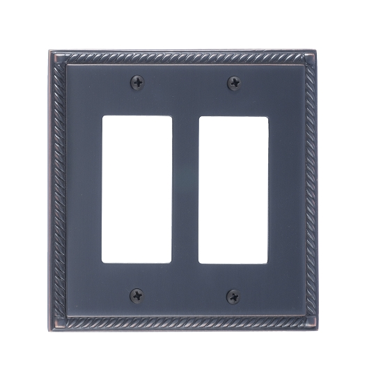 Brass Accents M06-S8570-613VB Georgian Double GFCI Switch Plate