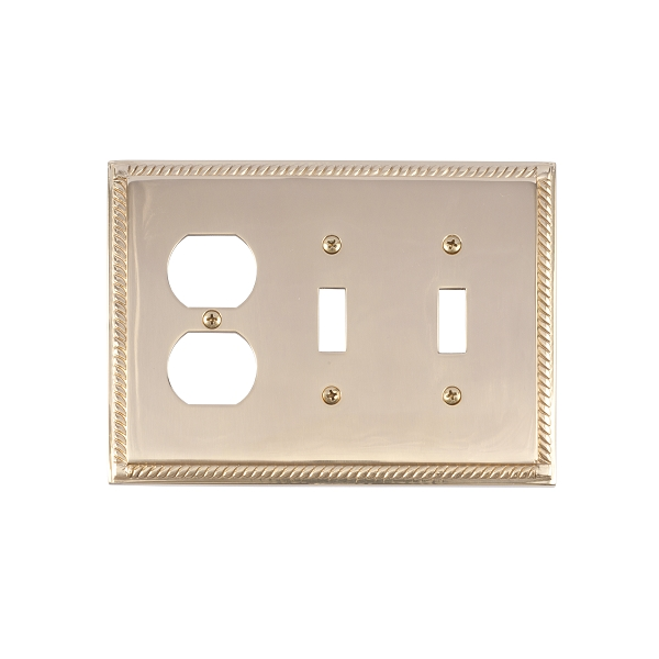Brass Accents M06-S8580-605 Georgian Triple-Double Switch and Single Outlet