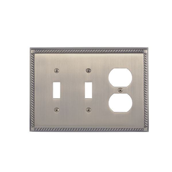 Brass Accents M06-S8580-609 Georgian Triple-Double Switch and Single Outlet