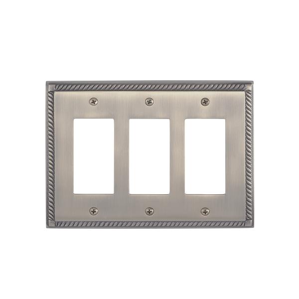 Brass Accents M06-S8590-609 Georgian Triple GFCI Switch Plate