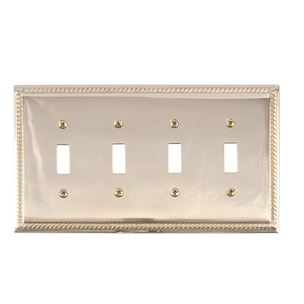 Brass Accents M06-S8591-605 Georgian Quad Switch Plate