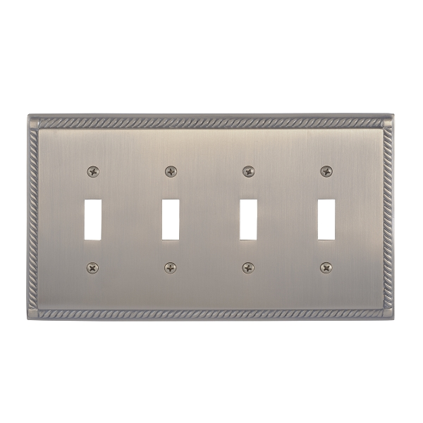 Brass Accents M06-S8591-609 Georgian Quad Switch Plate