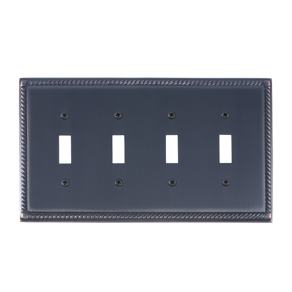 Brass Accents M06-S8591-613VB Georgian Quad Switch Plate