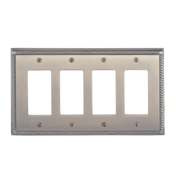 Brass Accents M06-S8592-609 Georgian Quad GFCI Switch Plate