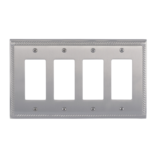 Brass Accents M06-S8592-619 Georgian Quad GFCI Switch Plate