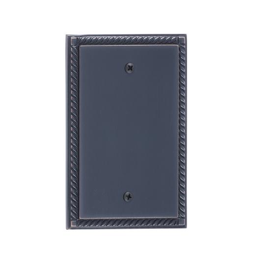 Brass Accents M06-S85X0-613VB Georgian Single Blank Plate