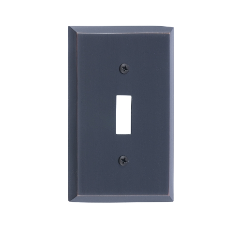 Brass Accents M07-S4500-613VB Quaker Single Switch Plate