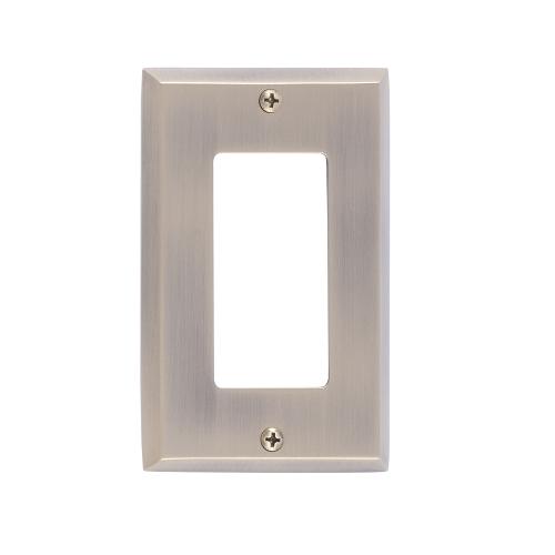 Brass Accents M07-S4520-619 Quaker Single GFCI Switch Plate