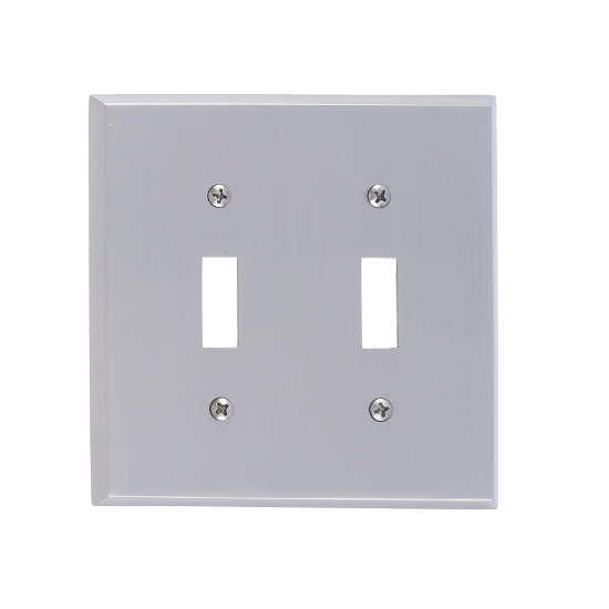 Brass Accents M07-S4530-619 Quaker Double Switch Plate