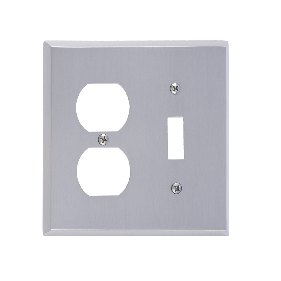 Brass Accents M07-S4540-619 Quaker -Single Switch and Single Outlet Plate