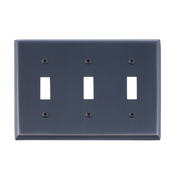 Brass Accents M07-S4550-613VB Quaker Triple Switch Plate