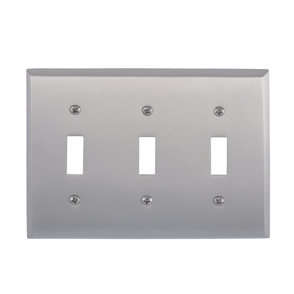 Brass Accents M07-S4550-619 Quaker Triple Switch Plate