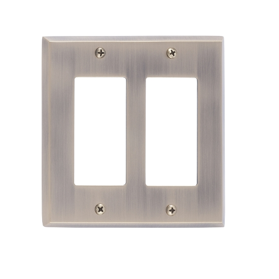 Brass Accents M07-S4570-609 Quaker Double GFCI Switch Plate