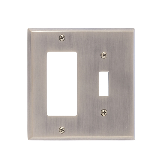 Brass Accents M07-S4571-609 Quaker Double-Single Switch and Single GFCI