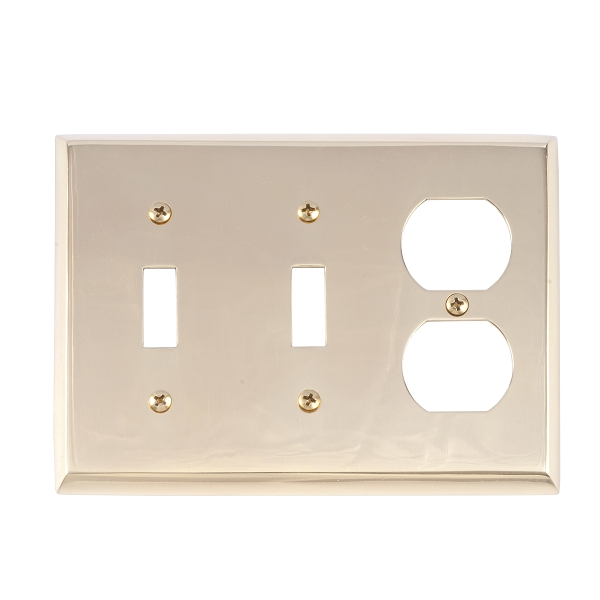 Brass Accents M07-S4580-605 Quaker Triple-Double Switch and Single Outlet