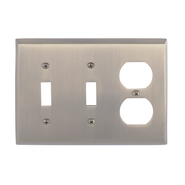 Brass Accents M07-S4580-609 Quaker Triple-Double Switch and Single Outlet