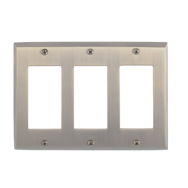 Brass Accents M07-S4590-609 Quaker Triple GFCI Switch Plate