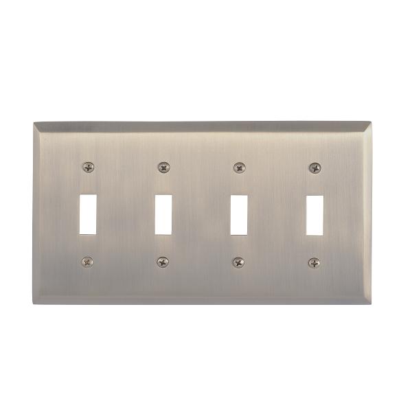 Brass Accents M07-S4591-609 Quaker Quad Switch Plate