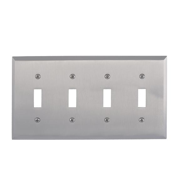 Brass Accents M07-S4591-619 Quaker Quad Switch Plate