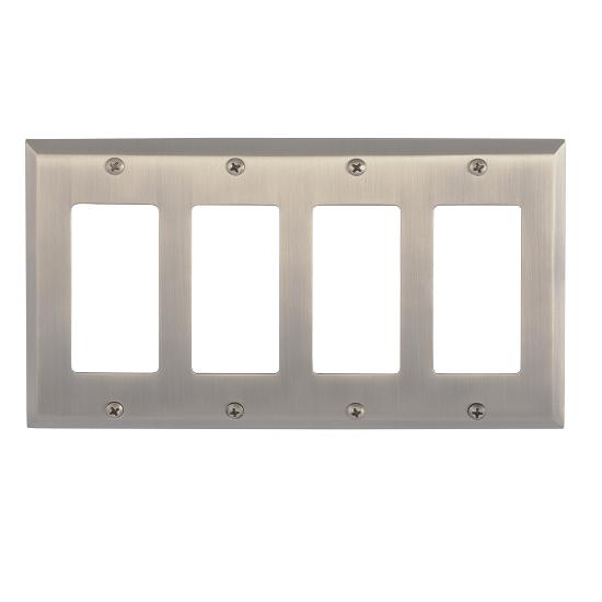 Brass Accents M07-S4592-609 Quaker Quad GFCI Switch Plate