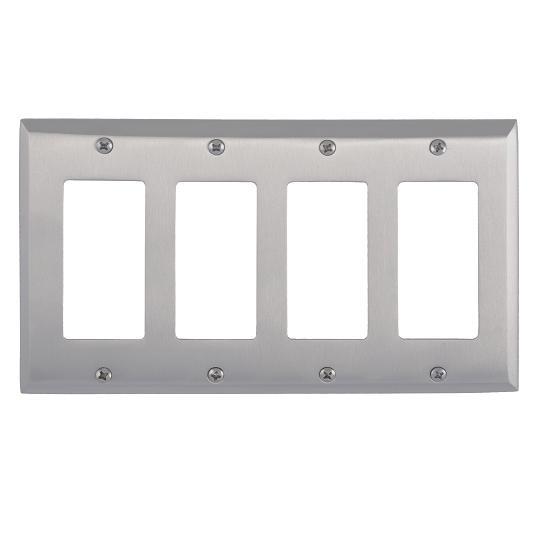 Brass Accents M07-S4592-619 Quaker Quad GFCI Switch Plate