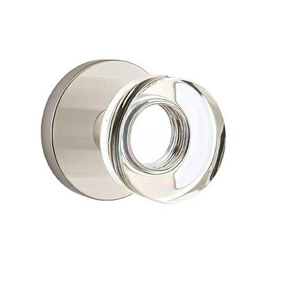 Emtek Modern Disc Crystal Door Knob Set with Disk Rose Satin Nickel (US15)